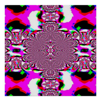 Pink Abstract Lacy Print