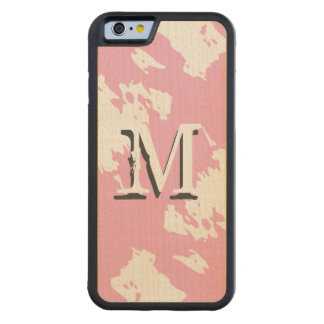 Pink Abstract Monogram Maple iPhone 6 Bumper