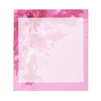 Pink Abstract Pastel Watercolor Notepad