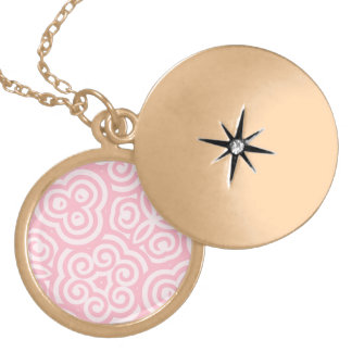 Pink Abstract Pattern Pendants