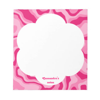 Pink abstract pattern notepad