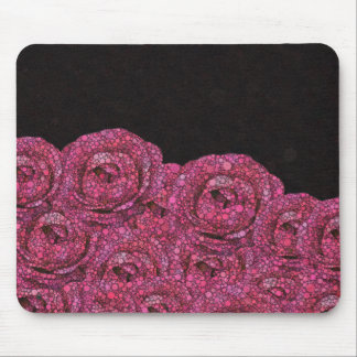 Pink Abstract Roses Mouse Pad