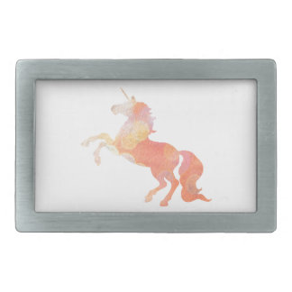 Pink Abstract Soft Lighting Unicorn Rectangular Belt Buckle