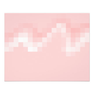 Pink Abstract Squares in a Wave Flyer Design