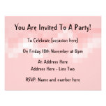 Pink Abstract. Squares in a Wave. Personalized Invite