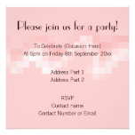 Pink Abstract. Squares in a Wave. Personalized Announcement
