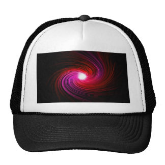 Pink abstract swirl. cap