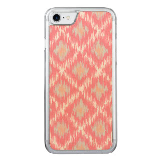 Pink Abstract Tribal Ikat Chevron Diamond Pattern Carved iPhone 8/7 Case