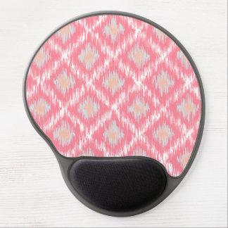 Pink Abstract Tribal Ikat Chevron Diamond Pattern Gel Mouse Mats