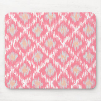 Pink Abstract Tribal Ikat Chevron Diamond Pattern Mouse Pads