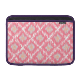 Pink Abstract Tribal Ikat Chevron Diamond Pattern Sleeve For MacBook Air