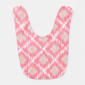 Pink Abstract Tribal Ikat Chevron Diamond Pattern Bib