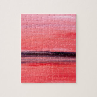 Pink abstract watercolour painting jigsaw puzzle