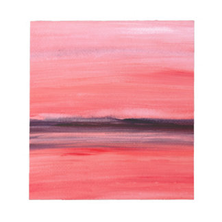 Pink abstract watercolour painting notepad