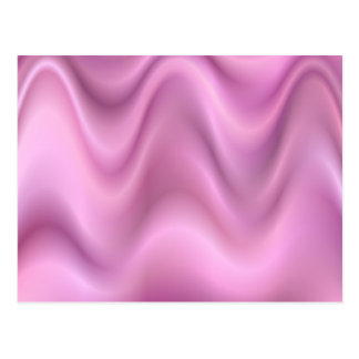 Pink abstract waves postcard