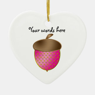 Pink acorn christmas tree ornaments