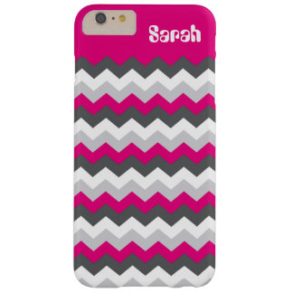 Pink Add Your Name and Pick Your Color Chevron Barely There iPhone 6 Plus Case