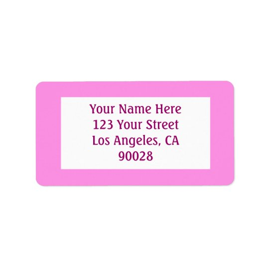 pink address address label