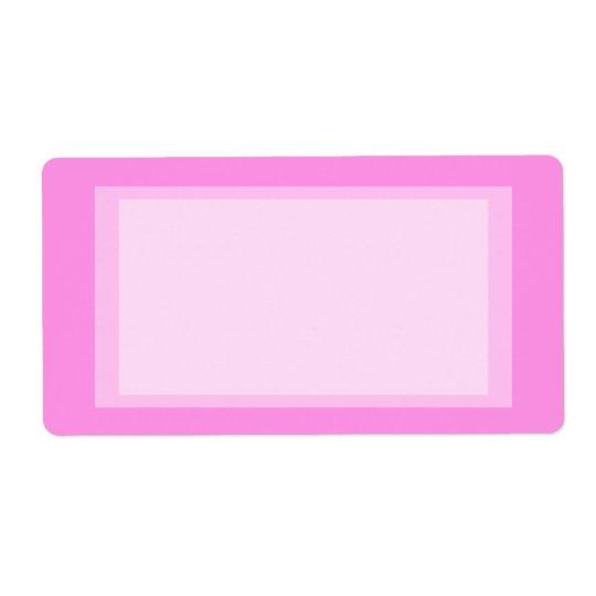 pink address shipping label