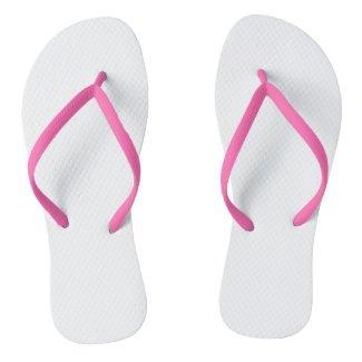 Pink Adult Flip Flops, Slim Straps