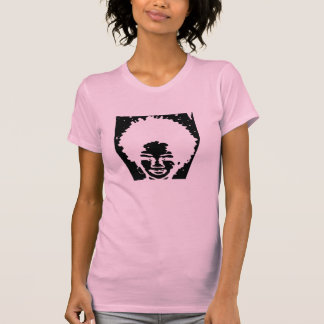 Pink Afro Natural Headed Girl T-Shirt
