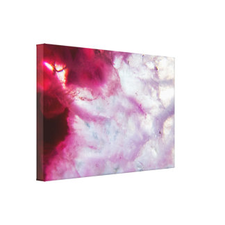 Pink Agate Crystal Canvas Print