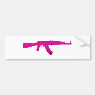 Pink AK-47 Bumper Sticker