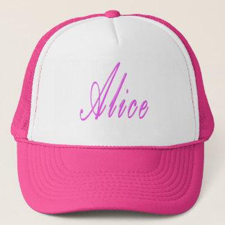 Pink Alice Name Logo, Trucker Hat