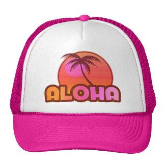 Pink Aloha Palm Cap