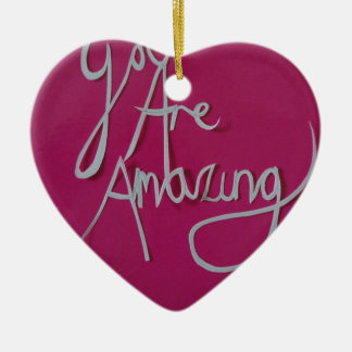 pink amazing paper cut white ceramic heart decoration