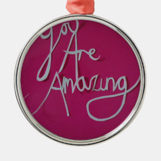 pink amazing paper cut white christmas ornament