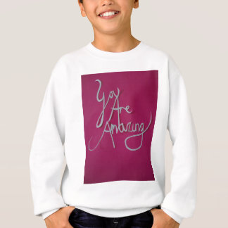 pink amazing paper cut white sweatshirt