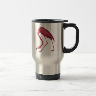 Pink American Flamingo Audubon Bird Vintage Art Stainless Steel Travel Mug