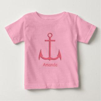 Pink Anchor Custom Baby T-shirt