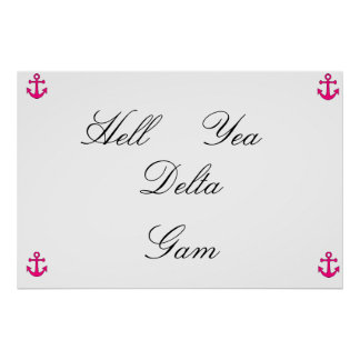 pink anchor delta gam poster