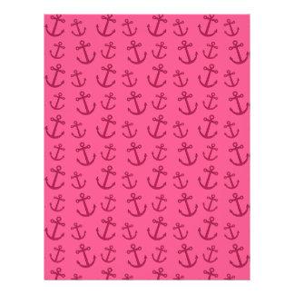 Pink anchor pattern flyer design