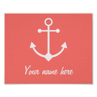 Pink anchor poster