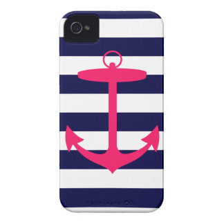 Pink Anchor Silhouette Case-Mate iPhone 4 Cases