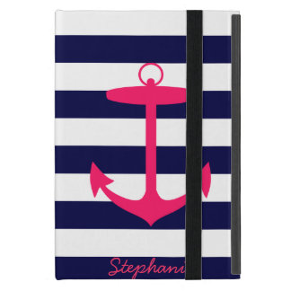 Pink Anchor Silhouette Cover For iPad Mini