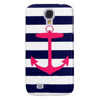 Pink Anchor Silhouette Galaxy S4 Case