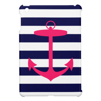 Pink Anchor Silhouette iPad Mini Case