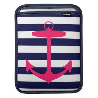 Pink Anchor Silhouette iPad Sleeve