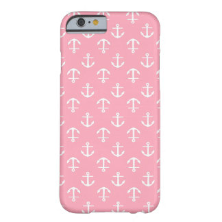Pink Anchors Pattern Barely There iPhone 6 Case