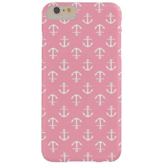 Pink Anchors Pattern Barely There iPhone 6 Plus Case