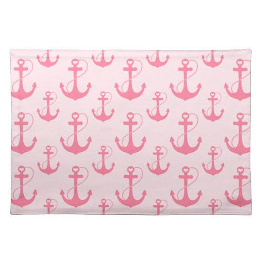 Pink Anchors Placemats