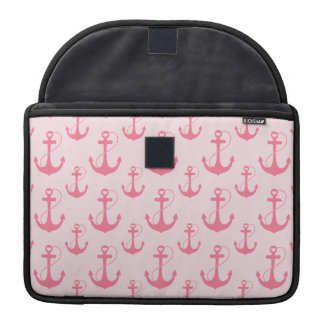 Pink Anchors Sleeve For MacBooks