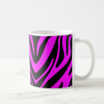 Pink and Black Abstract Zebra Coffee Mugs