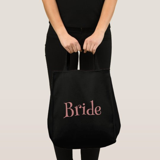 Pink and Black Bride Tote Bag