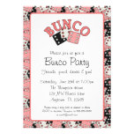 Pink and Black Bunco Party Announcement
