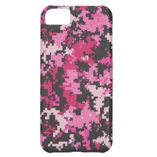 Pink and Black Camo iPhone Case Case For iPhone 5C